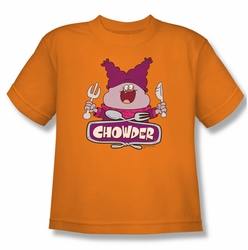 Chowder youth teen t-shirt Logo orange