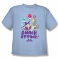 Chowder youth teen t-shirt Snack Attack light blue