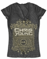 Chris Young t-shirt Whole Worlds a Sleepin juniors charcoal heather