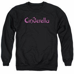 Cinderella adult crewneck sweatshirt Logo Rough black