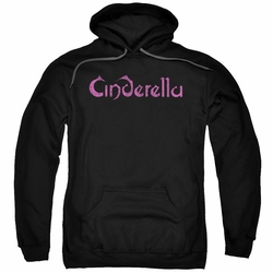 Cinderella pull-over hoodie Logo Rough adult black