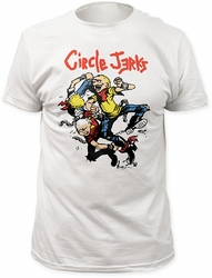 Circle Jerks thrashers fitted jersey tee mens white pre-order