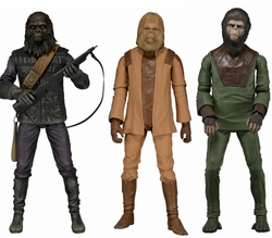 Classic Planet of the Apes action figures Set of 3
