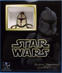 Clone Trooper Captian deluxe mini bust Captain Red Variant Star Wars #2743