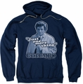 Columbo pull-over hoodie Just One More Thing adult navy