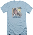 Columbo slim-fit t-shirt Inconspicuous mens light blue