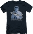 Columbo slim-fit t-shirt Just One More Thing mens navy