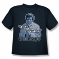 Columbo youth teen t-shirt Just One More Thing navy