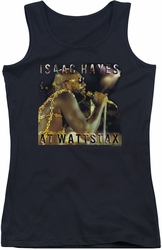 Isaac Hayes juniors tank top At Wattstax black