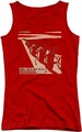 Concord Music juniors tank top Davis And Horn red