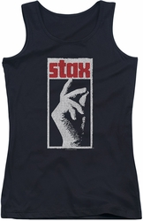 Concord Music juniors tank top Stax Distressed black