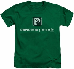 Concord Music kids t-shirt Picante Distressed kelly green