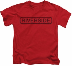 Concord Music kids t-shirt Riverside Vintage red
