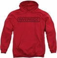 Concord Music pull-over hoodie Riverside Vintage adult red