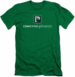 Concord Music slim-fit t-shirt Picante Distressed mens kelly green