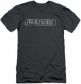 Concord Music slim-fit t-shirt Riverside Distressed mens charcoal