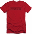 Concord Music slim-fit t-shirt Riverside Vintage mens red