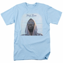 Isaac Hayes t-shirt Black Moses mens light blue