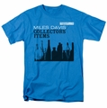 Miles Davis t-shirt Collector's Items mens turquoise