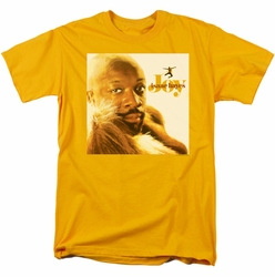 Concord Music t-shirt Isaac Hayes Joy mens gold
