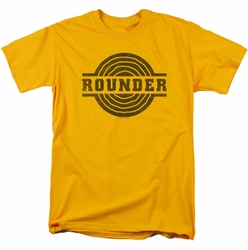 Concord Music t-shirt Rounder Distress mens gold