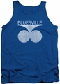 Concord Music tank top Bluesville Distress mens royal blue