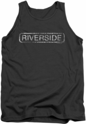 Concord Music tank top Riverside Distressed mens charcoal