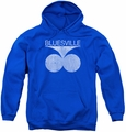 Concord Music youth teen hoodie Bluesville Distress royal blue