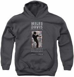 Concord Music youth teen hoodie Miles Silhouette charcoal