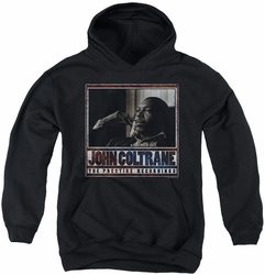 John Coltrane youth teen hoodie Prestige Recordings black