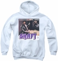 Isaac Hayes youth teen hoodie Shaft white