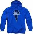 Concord Music youth teen hoodie Volt Logo royal blue