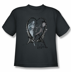 Corpse Bride youth teen t-shirt Runaway Groom charcoal