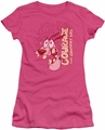 Courage Cowardly Dog juniors t-shirt Running Scared hot pink