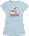 Courage Cowardly Dog juniors t-shirt Vintage Courage light blue