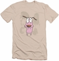 Courage slim-fit t-shirt Monsters mens cream