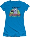 Courage The Cowardly Dog juniors t-shirt Colorful Courage turquoise
