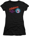 Courage The Cowardly Dog juniors t-shirt Courage Logo black