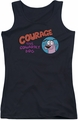 Courage The Cowardly Dog juniors tank top Courage Logo black