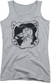 Courage The Cowardly Dog juniors tank top Ghost Frame athletic heather