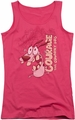 Courage The Cowardly Dog juniors tank top Running Scared hot pink