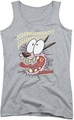 Courage The Cowardly Dog juniors tank top Scaredy Dog athletic heather