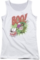 Courage The Cowardly Dog juniors tank top Stupid Dog white