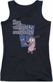 Courage The Cowardly Dog juniors tank top Where Is Everybody black