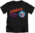 Courage The Cowardly Dog kids t-shirt Courage Logo black