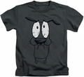 Courage The Cowardly Dog kids t-shirt Scared charcoal