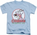 Courage The Cowardly Dog kids t-shirt Vintage Courage light blue
