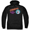 Courage the Cowardly Dog pull-over hoodie Courage Logo adult black