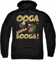 Courage The Cowardly Dog pull-over hoodie Ooga Booga Booga adult black