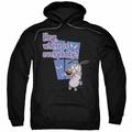 Courage the Cowardly Dog pull-over hoodie Where Is Everybody adult black